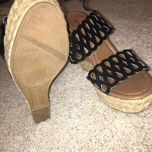Montego Bay Club Shoes - Almost new cute wedge sandals!